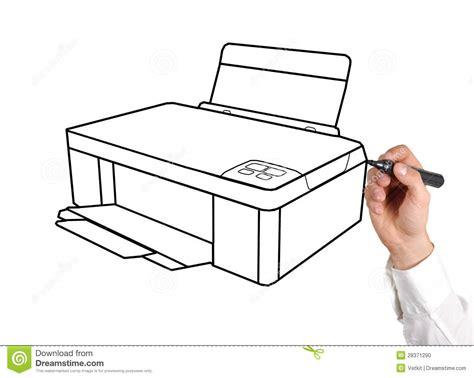 drawing printer stock photo image
