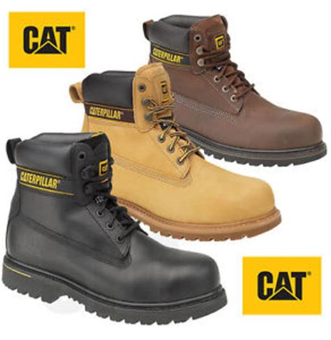 caterpillar boots safety 13 mens caterpillar holton steel toe cap safety boots cat 6