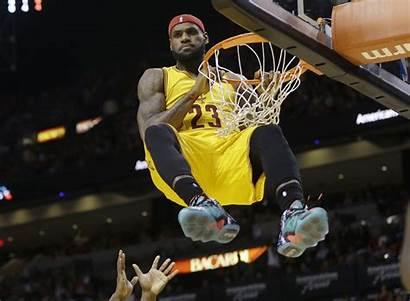 Lebron James Dunking Clipart Cleveland Basket Forward