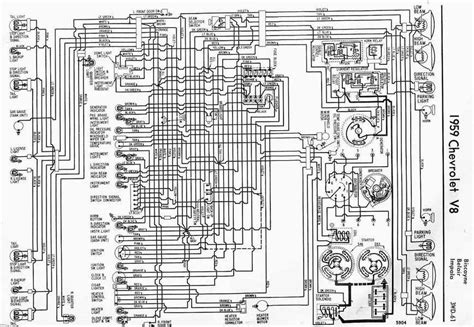 1958 Impala Wiring Diagram by 1959 Chevrolet V8 Impala Electrical Wiring Diagram All