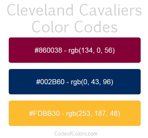 cleveland cavaliers colors cleveland cavaliers colors hex and rgb color codes