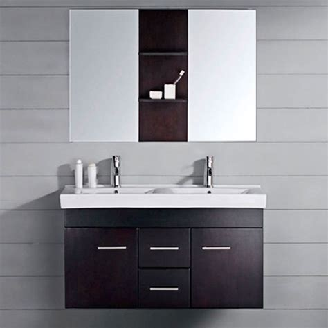 virtu usa opal 48 inch double sink bathroom vanity set