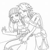 Anime Pages Coloring Kissing Couple Zelda Zellie Hugging Couples Manga Template Colouring Deviantart Printable Getdrawings Getcolorings Templates Sketch Emo sketch template