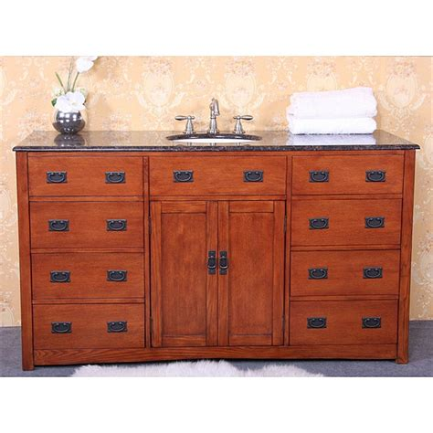 Bathroom Vanity 60 Single Sink by Granite Top 60 Inch Single Sink Bathroom Vanity 14283163