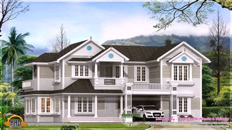 colonial style house plans  kerala youtube