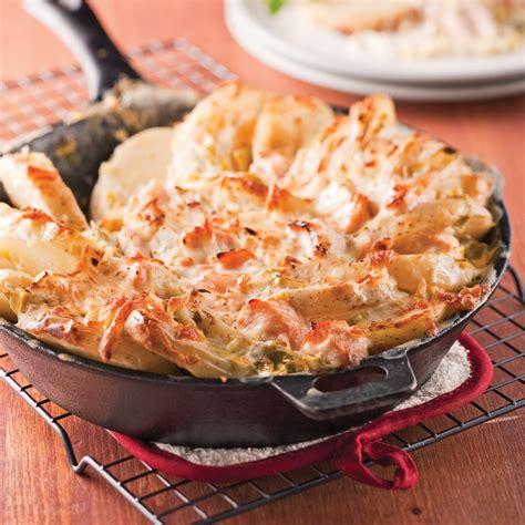 cuisine tartiflette tartiflette au saumon et poireaux recettes cuisine et