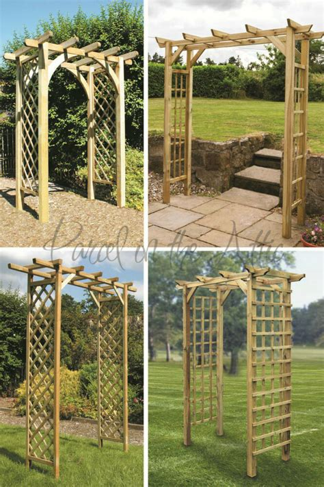 Square Wood Trellis by Square Flat Top Wooden Garden Arch Trellis Sides Timber