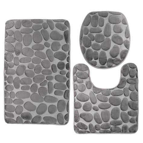piece bathroom mat sets benefit cool ideas  home