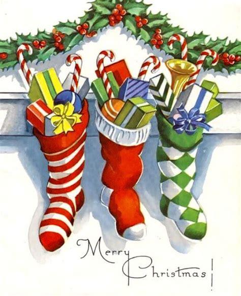 retro xmas stockings vintage christmas cards vintage