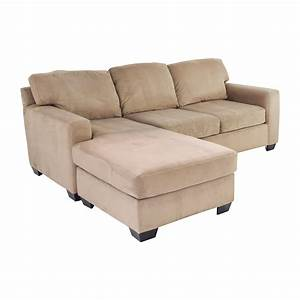 75 off max home max home tan sectional chaise sofa sofas for Tan sectional sleeper sofa