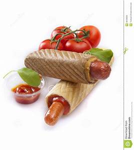 stock photo french hot dogs ketchup tomatoes white background image