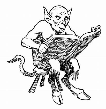 Demon Reading Clip Cliparts Clipart Onlinelabels