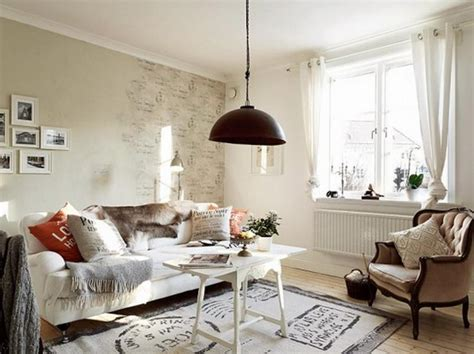 Make A White Living Room Chic & Unique : 20 Distressed Shabby Chic Living Room Designs To Inspire