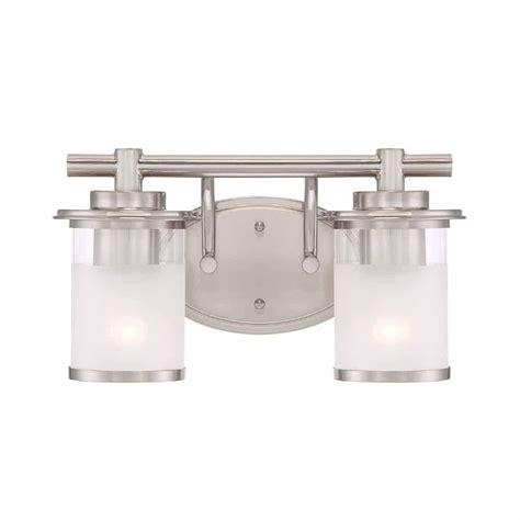 hton bay vanity light hton bay truitt 2 light brushed nickel vanity light fixture
