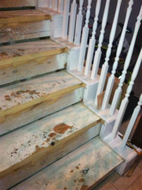 gaps  stair skirting  replacing carpeted stairs