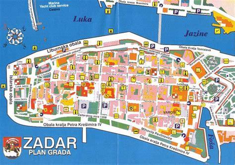 croatia zadar map