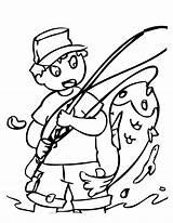 Coloring Fish Printable Fishing Drawing Colorear Ausmalbilder Pescando Funny Menino Peixe Weather Fisch Colouring Peces Cold Sheets Grande Desenho Colorir sketch template
