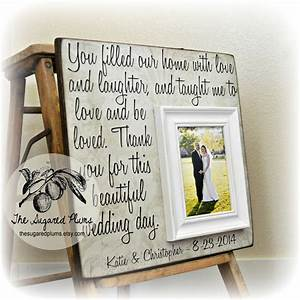 wedding frame for parents thank you gift for by With parents gifts for wedding