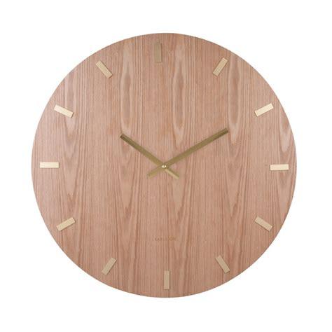 extra large wood wall clock  ash veneer