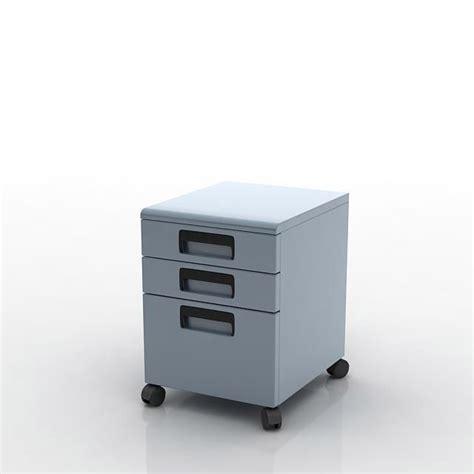 light blue rolling filing cabinet 3d model cgtrader