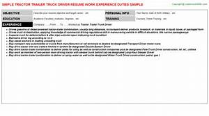 free downloads tractor trailer truck driver job samples With tractor trailer driver job description resume