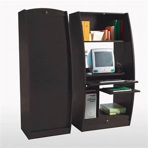 Bureau Pour Ordinateur Fixe : meuble ferme pour ordinateur bureau bureau ordinateur ferm lepolyglotte ~ Teatrodelosmanantiales.com Idées de Décoration