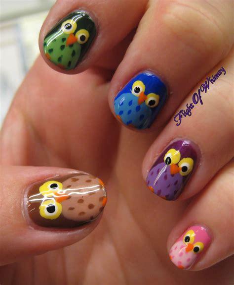 Cute Animal Nail Art Owls