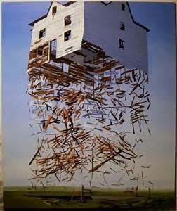 Unusual Art: Exploding Structures by Artist Ben Grasso
