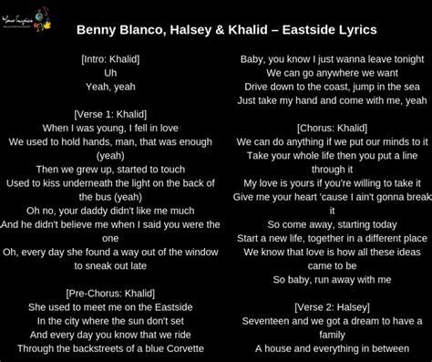 Benny Blanco, Halsey & Khalid  Eastside Lyrics  Your Lyrics