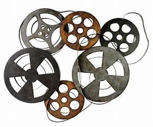 METAL MOVIE REELS RETRO MOVIE WALL ART FILM REEL DECOR