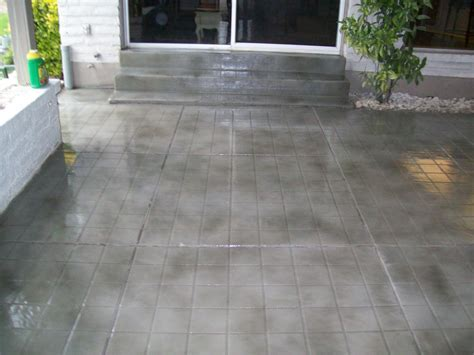 Concrete Patio Stain Colors Deck Tiles Over   Home Art