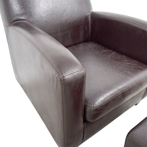 chair and ottoman ikea 52 off ikea ikea bonded brown leather chair and ottoman