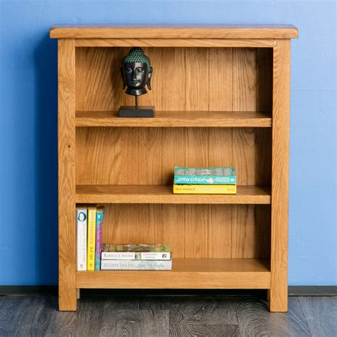 Low Bookcases by Surrey Oak Small Bookcase Solid Wood Low Bookcase