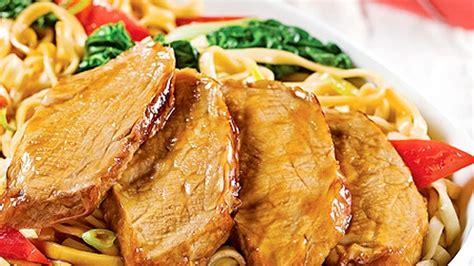 cuisiner les nouilles chinoises filets de porc aux nouilles chinoises