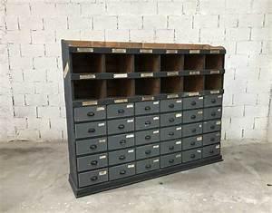 Meuble De Garage : ancien meuble de m tier en bois 30 tiroirs de garage 1930 ~ Melissatoandfro.com Idées de Décoration