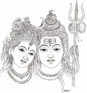 Lord Shiva Drawing Easy Sketch Coloring Page