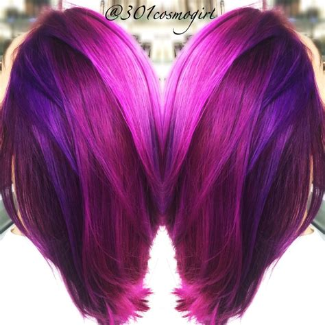 Love My Job Love This Bright Purple Magenta Pink Hair