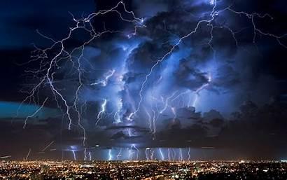 Sky Night Nature Lightning Lights Clouds Storm