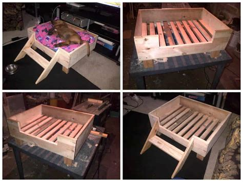 doggy pallet bed   repurposed pallet wood