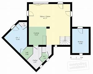 maison moderne detail du plan de maison moderne faire With good plan de maison 150m2 6 couleur maison construction plan de maison de plain pied