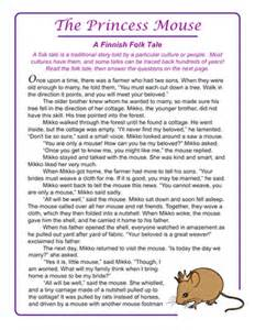 math for fourth graders free folktales the princess mouse worksheet education