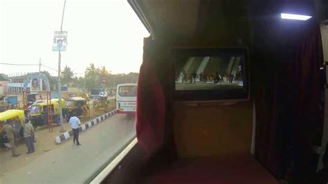 vrl travels volvo multi axle ac sleeper bus big screen entertainment    youtube