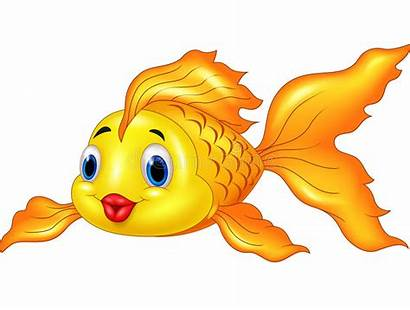 Fish Cartoon Goldfish Clipart Background Golden Vector