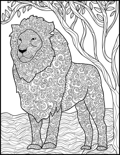 3 printable pages for coloring for lion lovers coloring