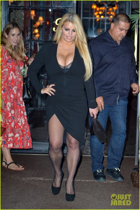 jessica simpson shows   figure   black dress