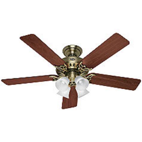 ceiling fans for sale online hunter studio series 52 quot antique brass ceiling fan at menards