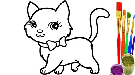 How To Draw Cat Coloring Pages Youtube Videos For Kids
