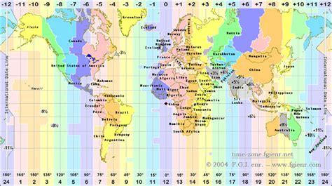 time zones codes maps gmt comparison