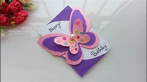 Beautiful Handmade Birthday card//Birthday card idea ...