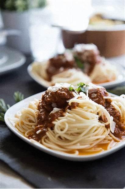 Spaghetti Meatballs Homemade Tasty Dish Meatball Tomato